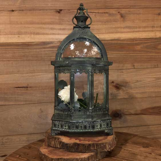 Antique Green Metal Lantern
