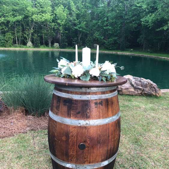 Rustic Wine Barrels