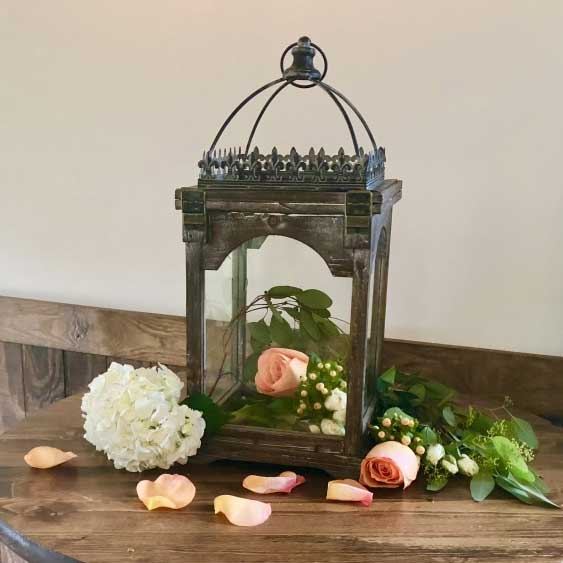 Lantern Fleur de Lis