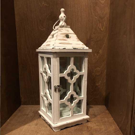 Wooden Lantern - Beige