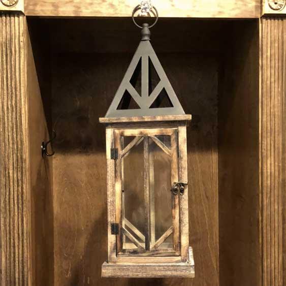 Wooden Lantern - Medium Brown