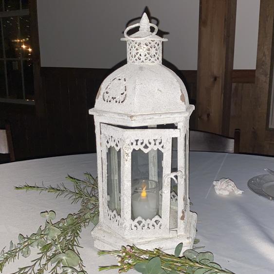 Octagon Beige Lantern