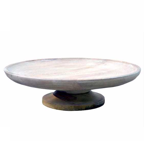 Pedastal Wood Bowl