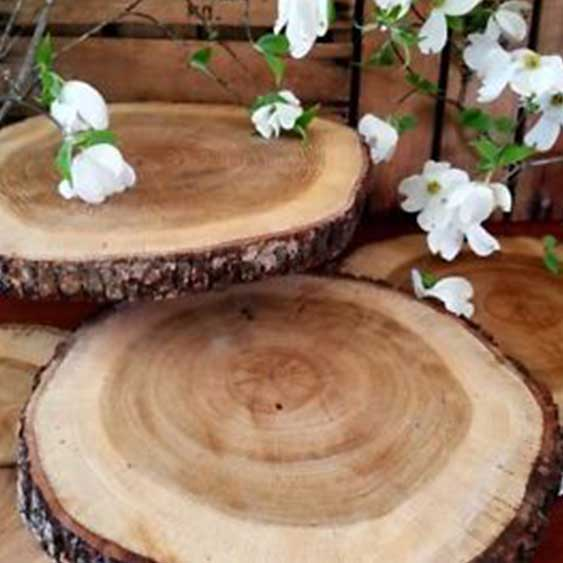 Centerpiece - Wood Disks