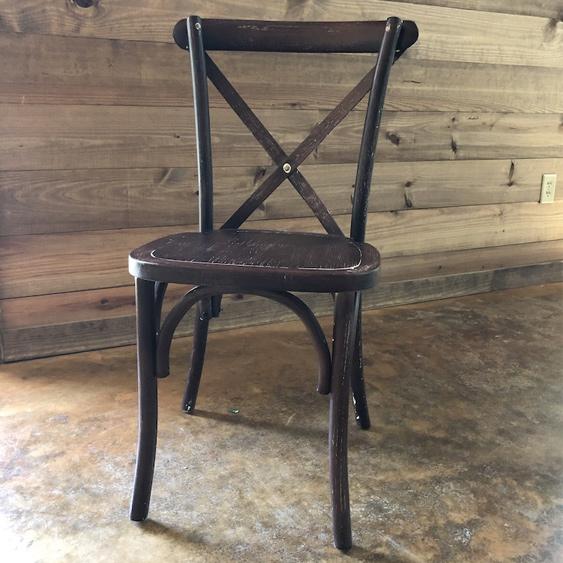 Wood X-Back Chair